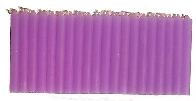"""LOT OF 20 PURPLE Chime Spell Candles Mini 4"""" Box of 20 Pagan Wicca Altar Ritual"""