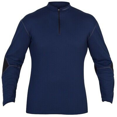 Base/Mid Layer Thermal Wicking Shirt Top Long Sleeve Gym Work Sports Black Navy
