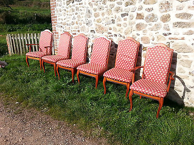 Six Gorgeous dining chairs with cabriole legs including two carvers