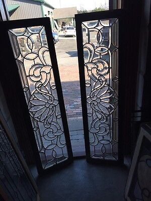 Sg 619 2 Available Price Separate Antique All Beveled Glass Transom