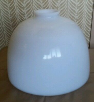 Vintage Tam O Shanter Student Library Oil Lamp Shade Opalescence Milk Glass