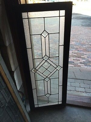 Sg 620 Antique Textured And Beveled Glass Transom Window