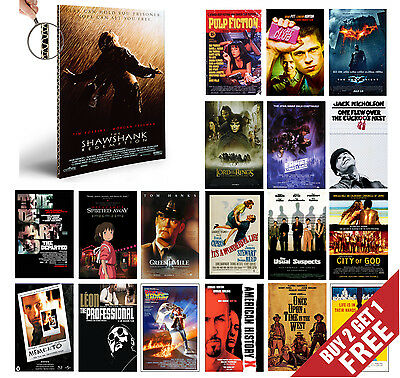 IMDB TOP 1to50 MOVIE POSTERS A4 Film Wall Art Prints Valentines Day Home Decor