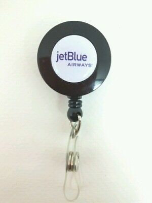 Jetblue Airways Airlines YO YO ID Card Badge Holder Retractable Reel Lanyard