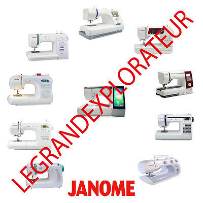 Ultimate Janome Sewing Machine User Service Repair Parts manual s 285 pdf on DVD