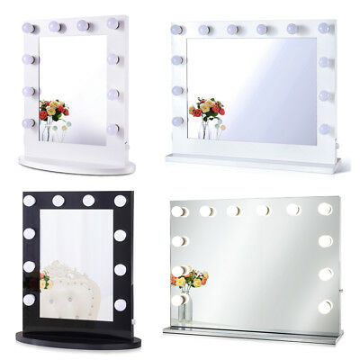 Hollywood Tabletops Makeup Lighted  Mirror Vanity with Dimmer+FREE 10 LED bulbs