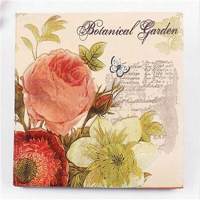 FD3024 Wedding Birthday Party Butterfly Rose Paper Napkins 33X33CM 1 Pack 20 PC♫
