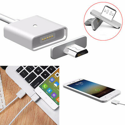 1M Universal Android Metal Micro USB Magnetic Adapter Charger Cable for SAMSUNG
