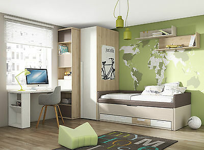 komplett jugendzimmer play 83 eckschrank bett. Black Bedroom Furniture Sets. Home Design Ideas