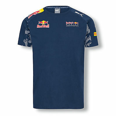 Red Bull Racing F1 Official Mens Teamline T-Shirt - 2016 - Clearance price