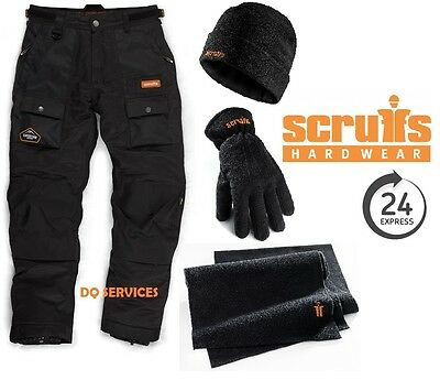 SCRUFFS EXPEDITION THERMO THERMAL LINED TROUSERS WATERPROOF + NEW Accessory Set