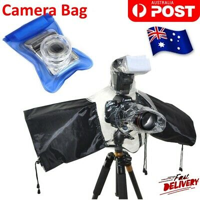 Rain Cover Waterproof Case Protector For DSLR Olympus Canon Nikon Digital Camera