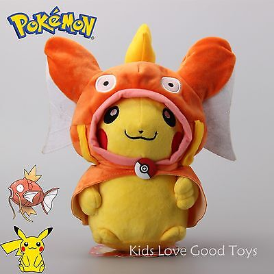 Pokemon Center Magikarp Pikachu Cosplay Plush Stuffed Doll Toy 30CM 12'' NEW