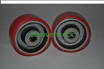 A Pair of Brand New Caster Wheels with Bearings 4 x 2