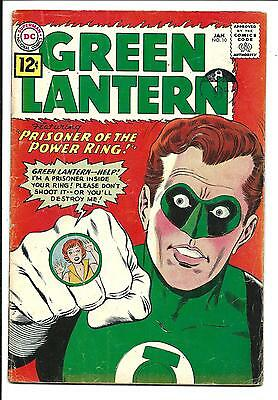 Green Lantern # 10 (Prisoner Of The Power Ring, Jan 1962), Vg+