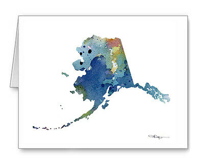 BLUE ALASKA Note Cards With Envelopes