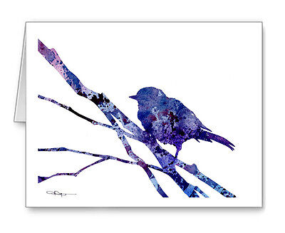BIRD ON A BRANCH Note Cards With Envelopes