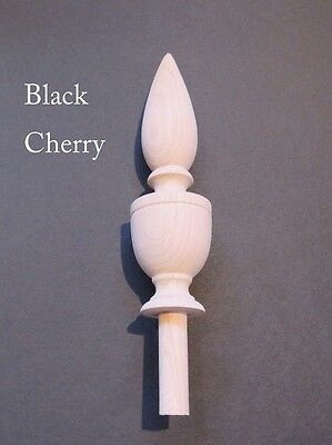 Wooden Finial-Choice-Cherry-Oak-Maple-Walnut-Mahogany-#14 Unfinished-bedpost