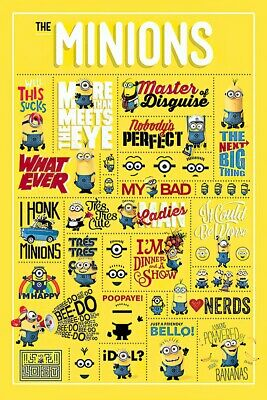 """Despicable Me - Movie Poster / Print (The Minions - Infographic) (24"""" X 36"""")"""