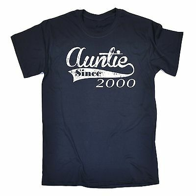 Auntie Since T-SHIRT tee Any Year aunt aunty newborn baby funny birthday gift