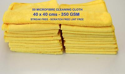 50 Microfibre Cleaning Cloth Towel Large Size for Car & Home Thick & Microfiber