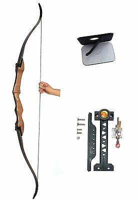 32lb WOODEN HUNTING TAKEDOWN RECURVE BOW EVERCATCH HUNTING TARGET ARCHERY