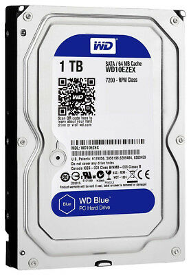 "Western Digital WD Blue 1TB 3.5"" SATA Internal Desktop Hard Drive 7200RPM PC HDD"