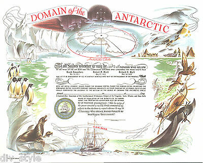 Domain of the Antarctic Certificate blank mint US Naval Institute