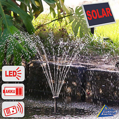 Solar Water Pump Garden Feature Water Submersible Fountain Pond Solar Powered