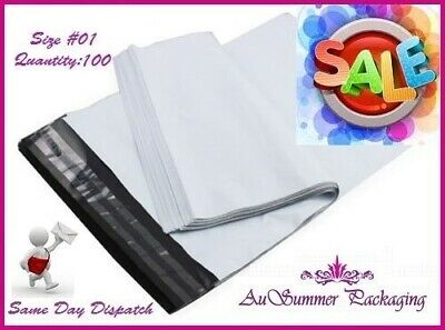 100 #1 190 x 250mm Poly Mailer Mailing Plastic Shipping Satchel Post Bags SALE!