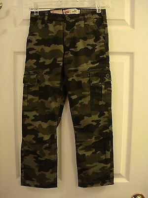 Levi's 514 Straight Camouflage Cargo Pants Size 8 Reg New With Tags Original $38