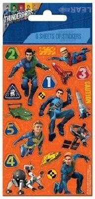 6 Sheets Of Thunderbirds Stickers Party Bag Fillers Toys Bedroom Decoration Book