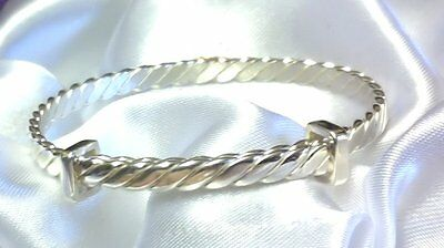 4 Sizes Baby Childs Quality Handmade 925 Sterling Silver Bangle Christening