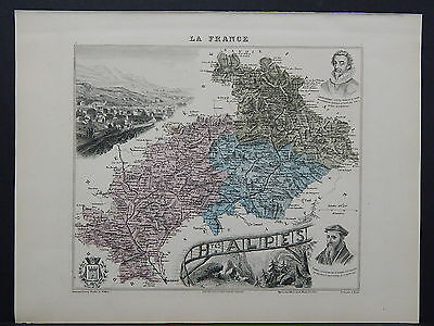 French Department Maps, Antique 1887 H tes Alpes #07