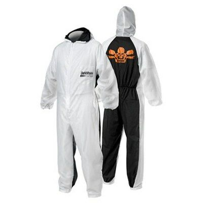 Devilbiss Xlarge Reusable Coverall Painter Suit Hooded Nylon Front Elastic Wrist