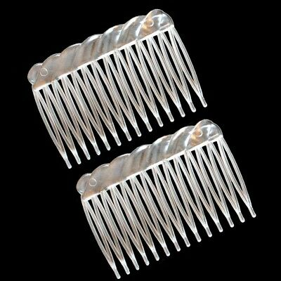 Lot de 2 - 4 - 6 ou 8 peignes à cheveux transparents - courbé - clear hair comb