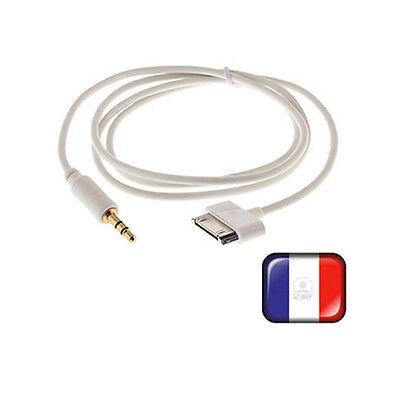 =Adaptateur AUX 3.5mm Male Vers 30-pin Male Pour iPod iPhone iPad =BG30