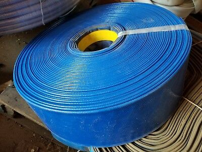 "Blue Pvc Lay Flat Discharge Hose 4"" Id X 75'"