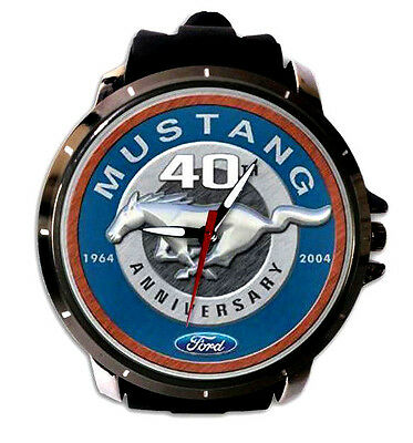 VINTAGE FORD MUSTANG WATCH convertible shelby gt500 burgundy classic anniversary