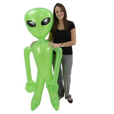 "1 INFLATABLE ALIEN 72"" Inch Blow up Party Favor Halloween #BB47 Free Shipping"