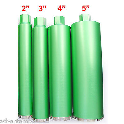 "2"", 3"", 4"" & 5"" Combo - Wet Diamond Core Drill Bit for Concrete - Premium Green"