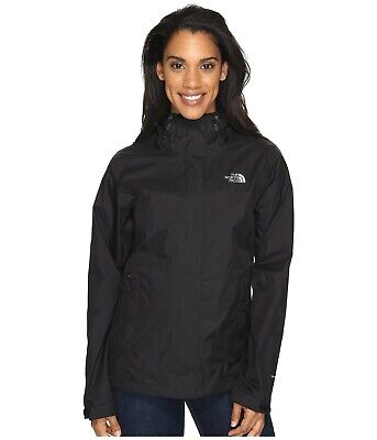 The North Face Women's Venture 2 Jacket Waterproof Shell DryVent TNF Black NWT