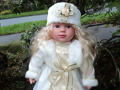 Swedish White Large 48cm Baby Doll Girl Doll Cute Real Life Looking Blonde Hair