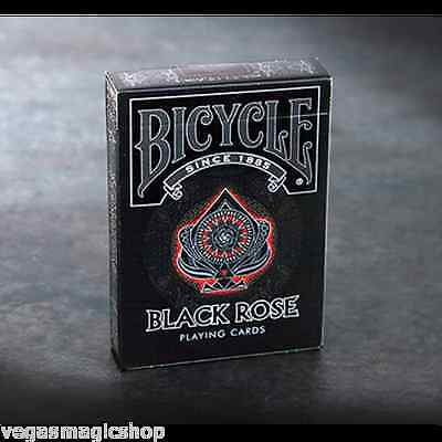 Black Rose Deck Bicycle Playing Cards Poker Size USPCC Custom Limited Edition