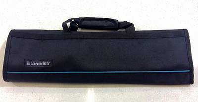 Messermeister 8pc Knife Carry Case Chef Bag Padded Roll Black Cook