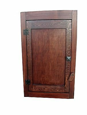 Custom Handcrafted Mission Arts/Crafts Rustic Wood Wall Cabinet