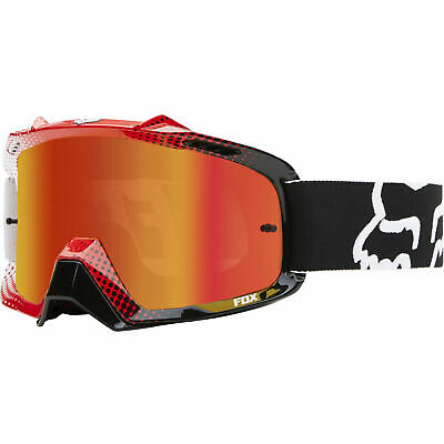 Fox Mx Airspc 360 Race White Red Spark Lens Adult Motocross Bike Goggles