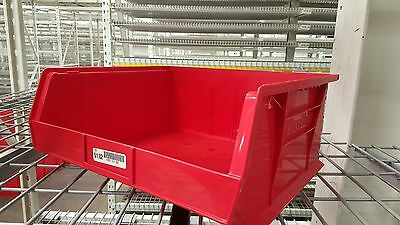 "Akro-Mils 30250 Red Bin 14 3/4"" X 16 1/2"" X 7"" Pack of 6"
