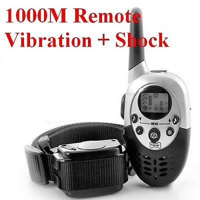 1000M Yard Remote Rechargeable Waterproof Shock Dog Training Collar Pet Trainer