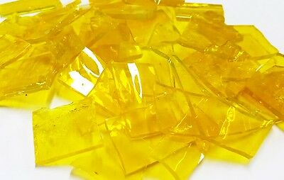 Stained Glass Pieces - 200grams - Transparent Yellow